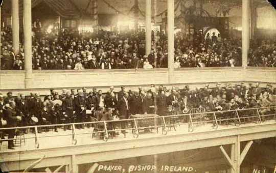 Archbishop John Ireland speaking at the dedication of the Exposition Building