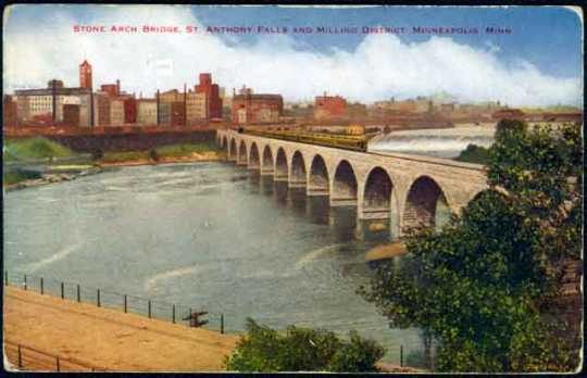 Stone Arch Bridge, St. Anthony Falls and milling district, Minneapolis