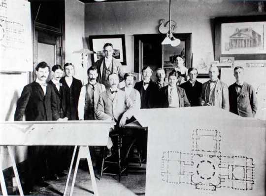 Cass Gilbert and staff