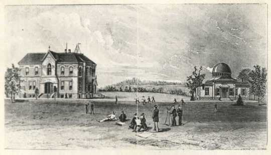 Carleton College campus; note Goodsell Observatory.