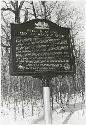Peter M. Gideon and the Wealthy Apple historic marker