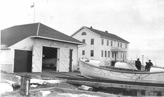Coast Guard crewmen at North Superior Station