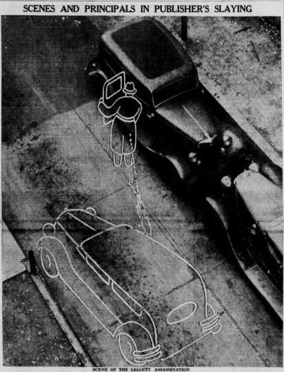 Drawing of Liggett murder scene