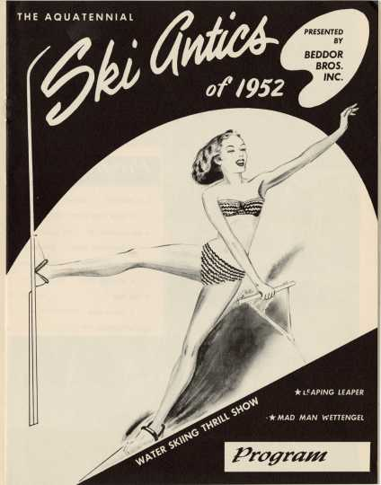 """Ski Antics of 1952"" event program"