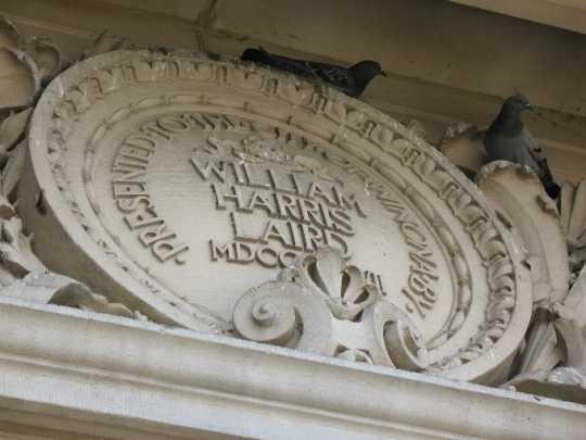 Plaque above the main entrance of Winona Public Library