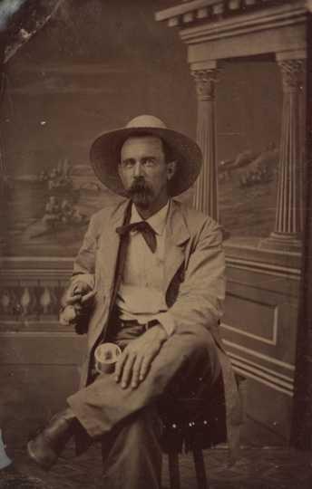 Black and white photograph of Josias King, c.1850.