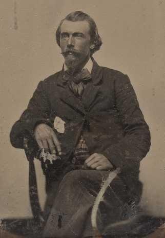 Black and white photograph of Josias King, 1858.