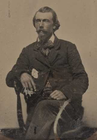 Black and white photograph of Josias King, 1858.