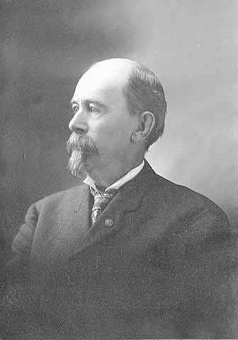 Black and white photograph of Josias King, c.1900.