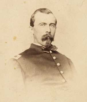 Black and white photograph of Lieutenant Josias King, 1862.