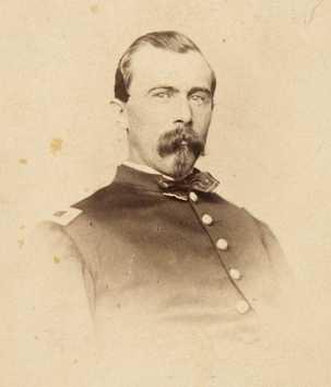 Black and white photograph of Lieutenant Josias King, 1862.