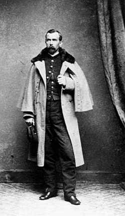 Black and white photograph of Captain Josias King, c.1864.