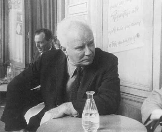 Black and white photograph of Adolf Dehn in France, 1963.