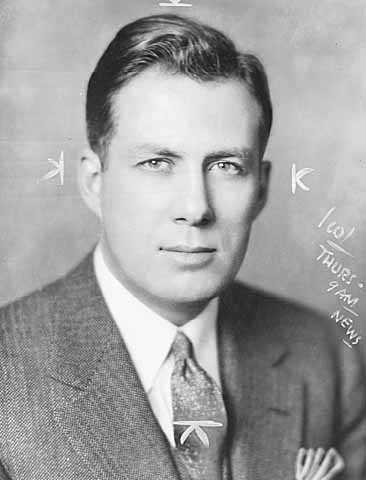 Black and white photograph of future chief justice Warren Burger, ca. 1936.