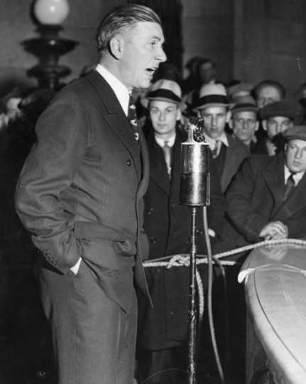 Black and white photograph of Governor Floyd B. Olson, c.1935.