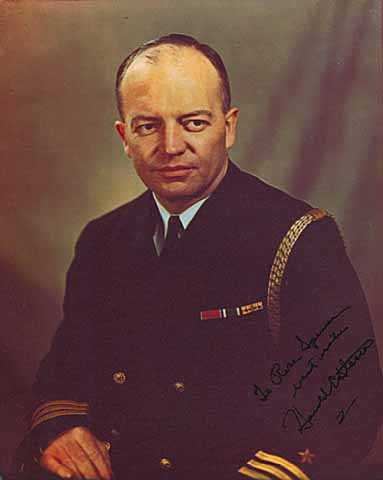 Color image of Harold Stassen in his U.S. Naval Reserve uniform, c. 1945.