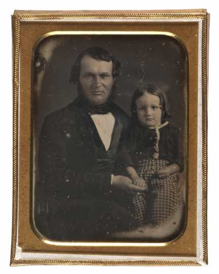 Photograph of Alexander Ramsey and his son