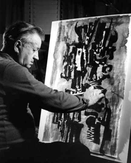 Black and white photograph of Elof Wedin, 1958.