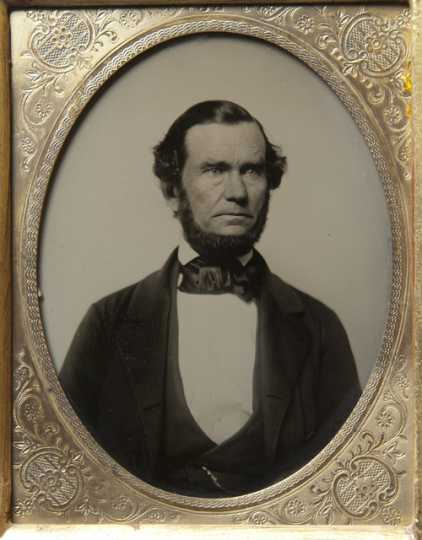 Black and white photograph of John Banfill, ca. 1848.