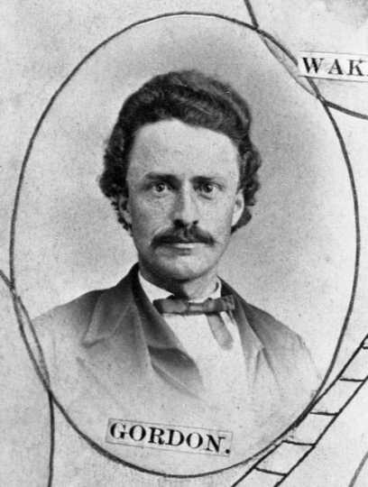 Black and white photograph of Hanford L. Gordon, c.1867.
