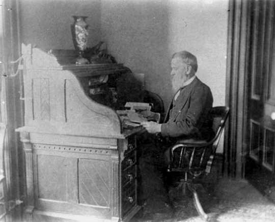 William Gates LeDuc at home