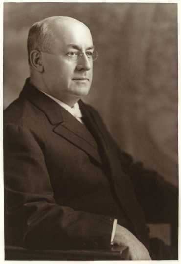 Black and white photograph of John McGee, 1918.
