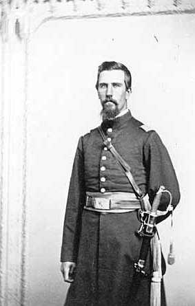 Black and white photograph of William Wallace Braden, ca. 1863. Photographed by Joel Emmons Whitney.