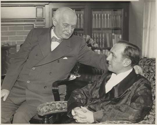 Adolph Bremer with Edward Bremer, his son