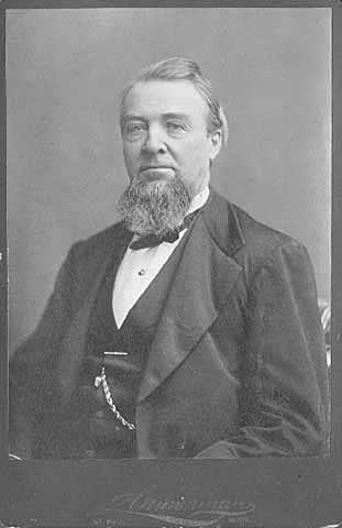 Portrait of James C. Burbank, a founding member of the Minnesota Stage Company, c.1872.