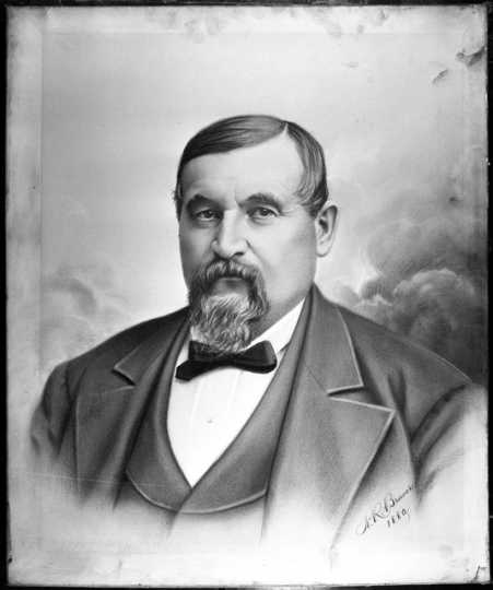 Drawing of Theodore Hamm by Nicholas Brewer, 1880