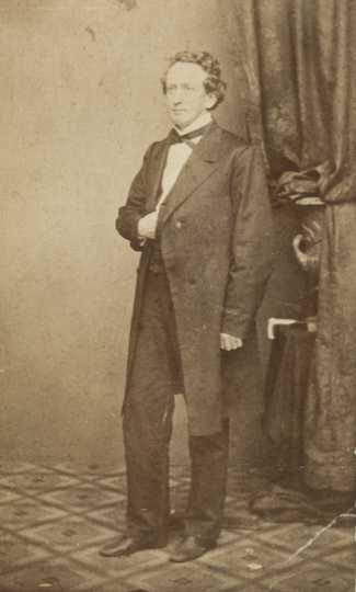 Black and white photograph of Henry Mower Rice, 1863.