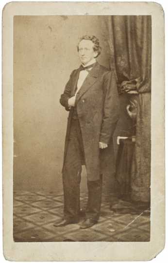 Sepia photograph of Henry Mower Rice, 1863