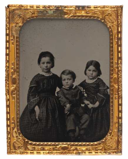 Daguerreotype of the children of Mary Elizabeth Bronson and William Gates LeDuc