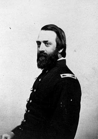 Black and white photograph of Colonel George McLaren, c.1864. McLaren was a commandant of Fort Snelling during the Civil War.