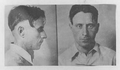 Black and white photograph of Fred Barker, 1931. Photographed by the Bureau of Criminal Apprehension.