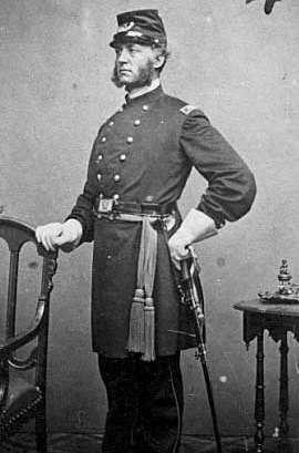 Black and white photograph of Colonel Hiram Berdan, c.1861.