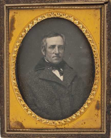 Black and white photograph of Dr. Thomas R. Potts, c.1855. Potts was the assistant surgeon and medical purveyor at Fort Snelling during the Civil War.