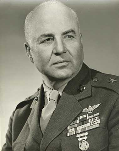 Black and white photograph of Melvin Maas as a Brigadier General in the Marines, c.1948.