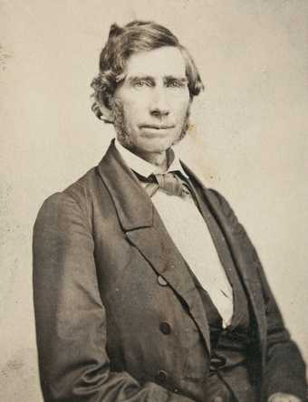 Black and white photograph of Stephen R. Riggs, 1862. Photographed by Whitney's Gallery.