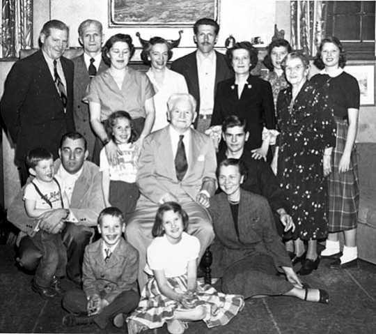 F. Melius Christiansen and family