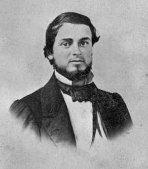 Black and white photograph of trader Andrew Myrick, c.1860.