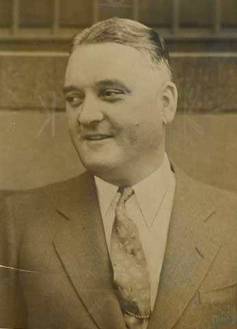 Black and white photograph of St. Paul gangster Jack Peifer, c.1936.