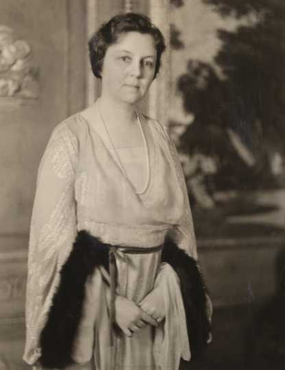 Black and white photograph of Mary Livingston Griggs, c.1936. Photographed by Charles H. Wiebmer.