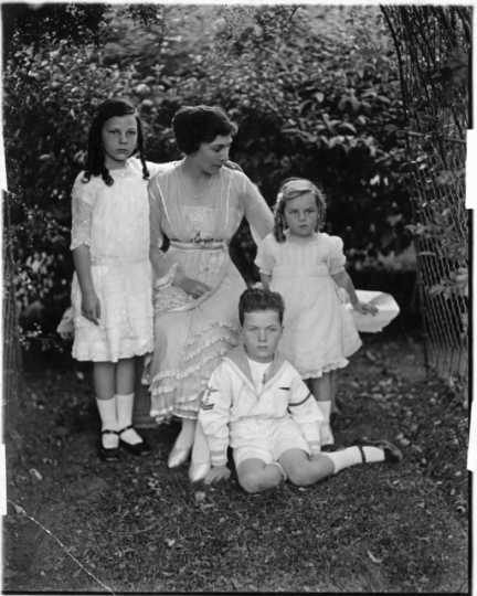 Clotilde M. Irvine and her children