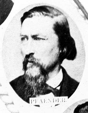 Black and white photograph of Wilhelm Pfaender, ca. 1870.