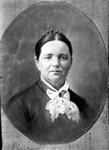 Black and white photograph of Catherine Pfaender, ca. 1870.