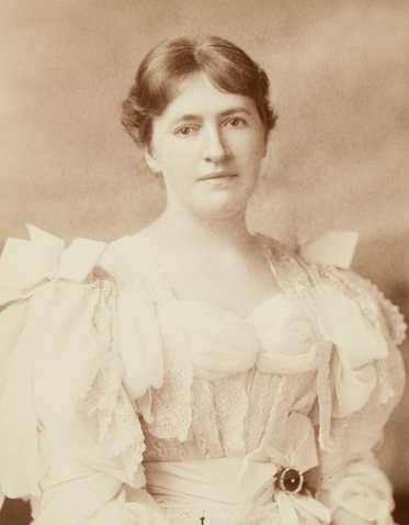 Black and white photograph of Evangeline Whipple, ca. 1896.