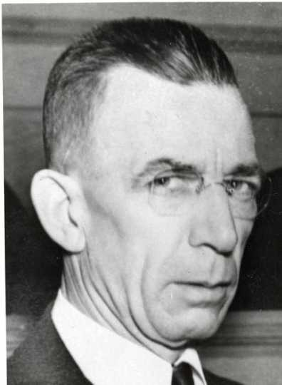 Black and white photograph of Vincent Raymond Dunne, Minneapolis labor leader, ca. 1930s.