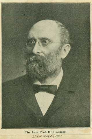 Black and white photograph of Otto Lugger, University of Minnesota professor, author, and State Entomologist, ca. 1895.