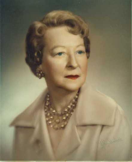 Color image of Helen E. (Davis) McMillan of Austin, ca. 1972.